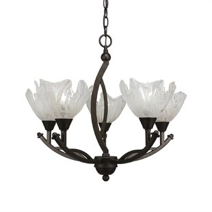 Blankenship 5-Light Shaded Chandelier by Fleur De Lis Living
