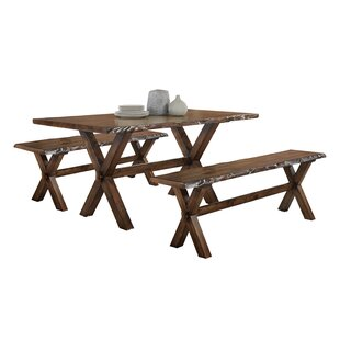 Adeline 3 Piece Dining Set Millwood Pines