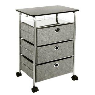 Savings 3 Drawer Eyelet Rolling Cart ByRichards Homewares