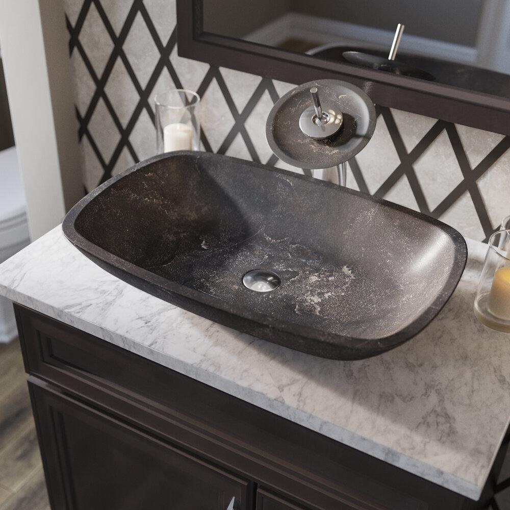 Remarkable Stone Rectangular Vessel Bathroom Sink Download Free Architecture Designs Photstoregrimeyleaguecom