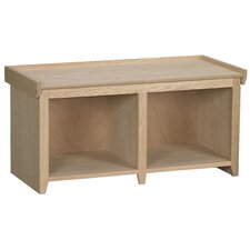 Wood Storage Entryway Bench by Arthur W. Brown