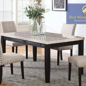 marble kitchen & dining tables you'll love | wayfair