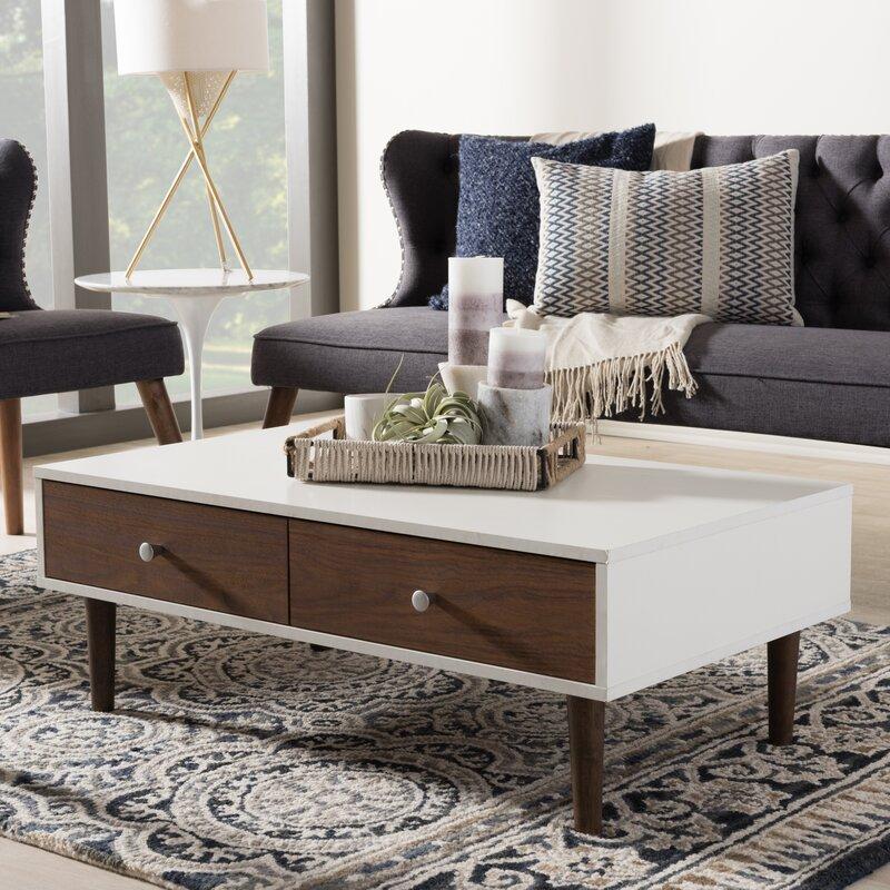 wholesale interiors baxton studio coffee table & reviews | wayfair