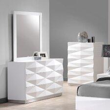 Baldree 6 Drawer Dresser with Mirror