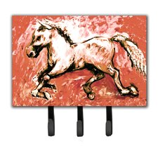 Shadow The Horse in Leash Holder and Key Hook by Caroline's Treasures