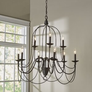 Big Sky 9 Light Candle Style Chandelier