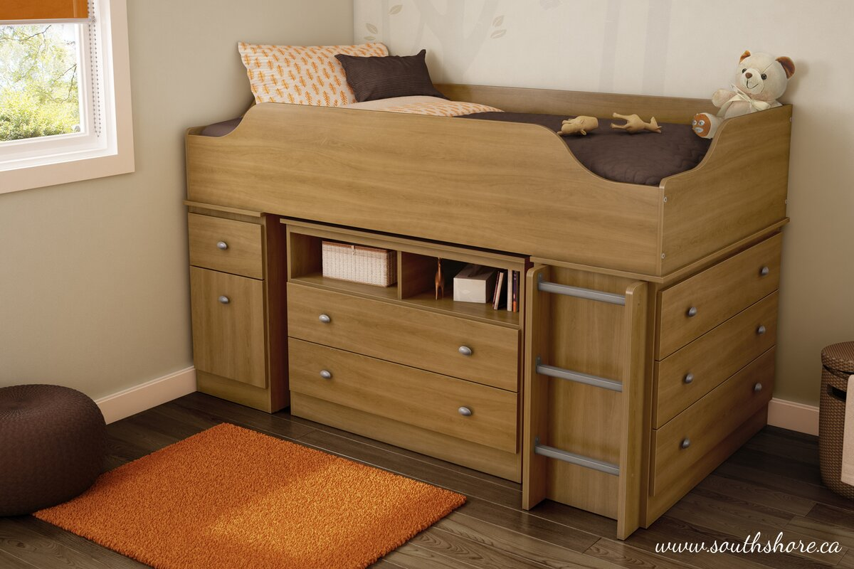 south shore tree house twin loft bed customizable bedroom set