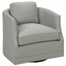 Worth Glide Swivel Barrel Chair by Latitude Run