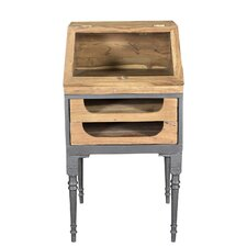Durham Teak/Iron 2 Drawer Desk/Podium by BIDKhome