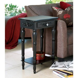 Isabella Carved Side Table by Charlton Home