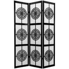 72 x 42 Rosewood Long Life Shoji 3 Panel Room Divider by Oriental Furniture