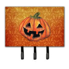 October Pumpkin Halloween Leash Holder and Key Holder by Caroline's Treasures