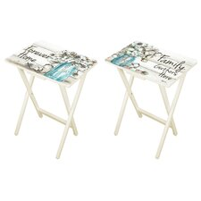 Jimmy Forever Home Tray Table Set (Set of 2) by August Grove