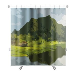 Landscapes Landscape Backdrop Abstract Art Premium Shower Curtain Gear New