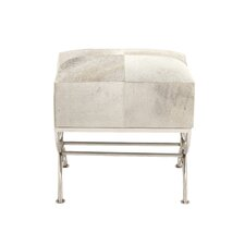 Stainless Steel and Wood Hide Stool by Cole & Grey