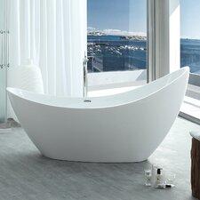 "HelixBath Odysseus 72.8"" x 30.7"" Freestanding Soaking Bathtub"