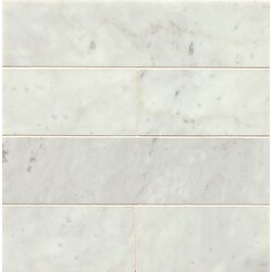 Honed 3 X 12 Marble Field Tile In White Carrara