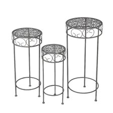 Otsego 3 Piece Nesting Plant Stand by Alcott Hill
