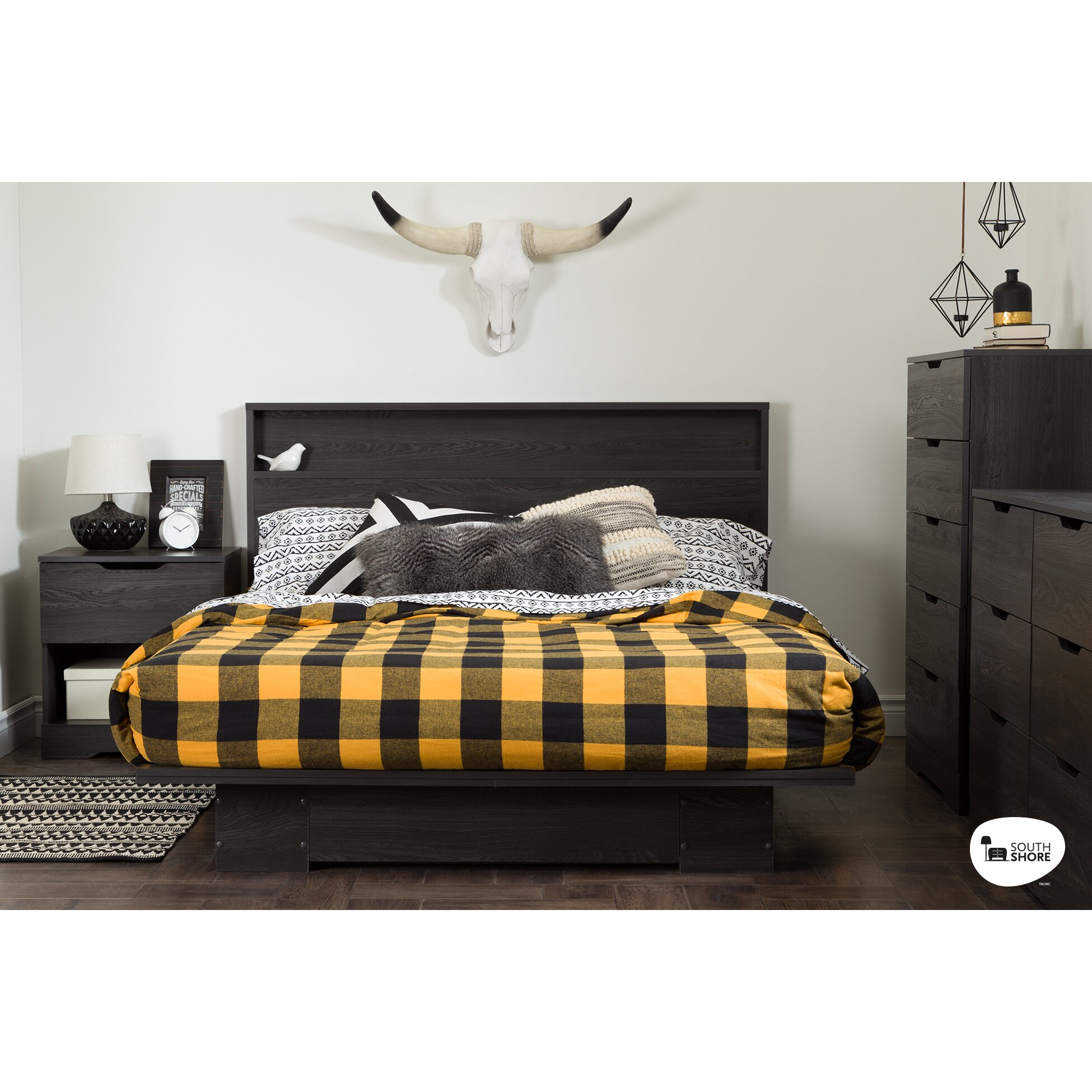 South Shore Holland Queen Storage Bed