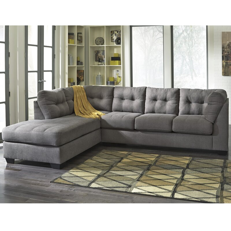 angled leather sectional sofa sectional sofas youll love wayfair  sc 1 th 225 : angled sofa sectional - Sectionals, Sofas & Couches