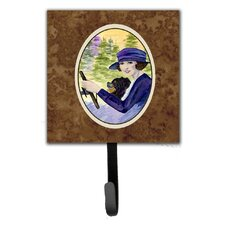 Lady Driving with Her Pomeranian Leash Holder and Wall Hook by Caroline's Treasures