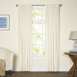 windsor geometric room darkening thermal pinch pleat single curtain panel