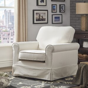 Schumann Cotton Fabric Swivel Armchair