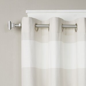 Square Finial Single Curtain Rod And Hardware Set