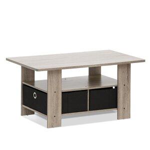 Duval French Oak Bin Drawer Coffee Table by Ebern Designs