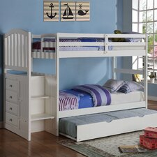 Donco Kids Twin Bunk Bed with Trundle by Donco Kids