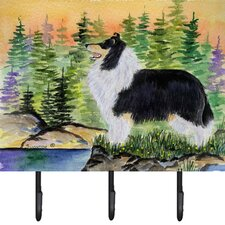 Collie Leash Holder and Key Hook by Caroline's Treasures