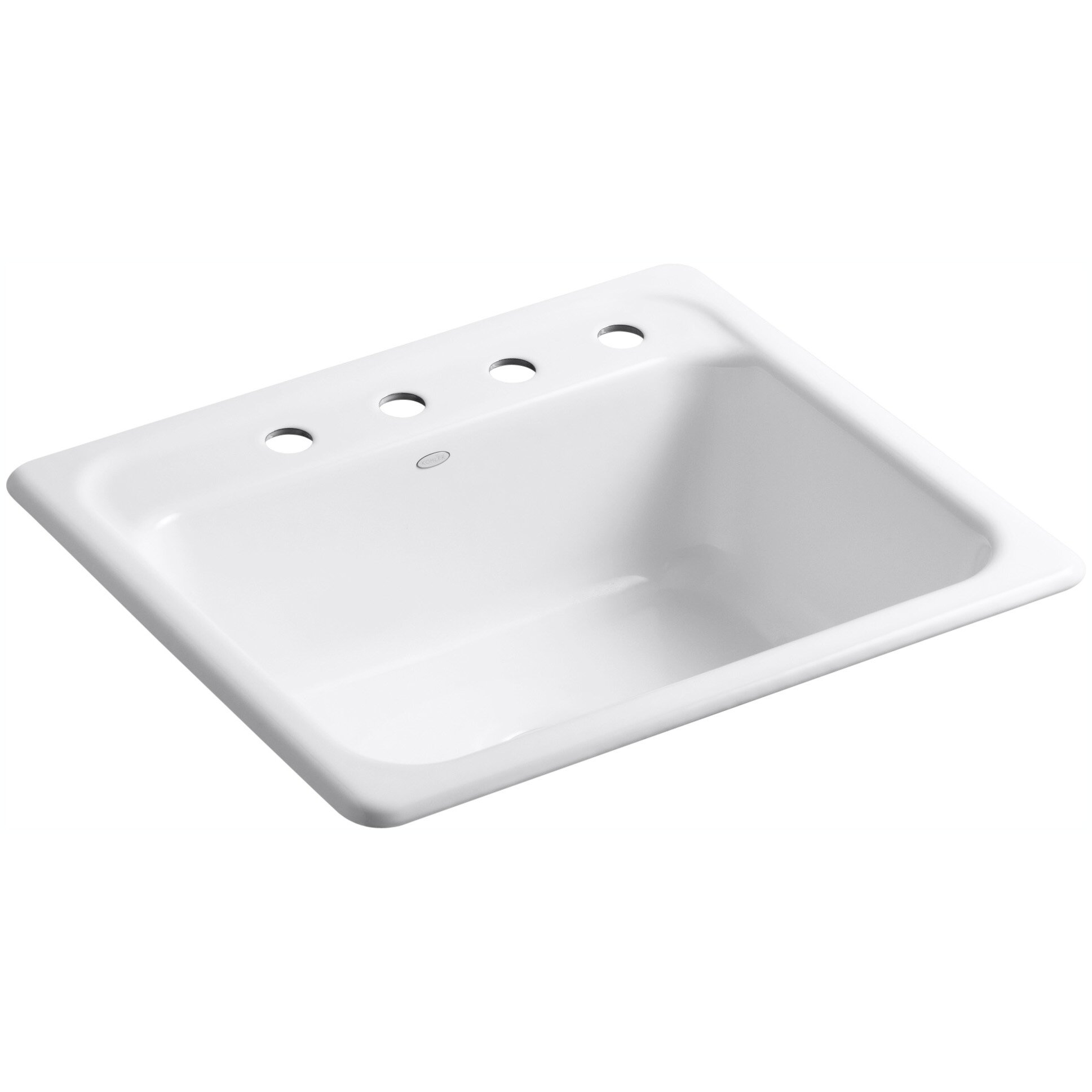 kohler mayfield 25 x 22 x 8 34 top mount single bowl kitchen sink reviews wayfair - Bowl Kitchen Sink
