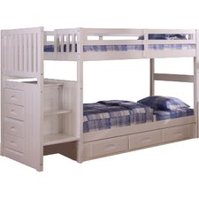 Springside Twin over Twin Bunk Bed with Staircase by Cambridge