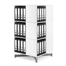 Cube Binder and File Carousel 48 H Three Shelf Shelving Unit by Moll