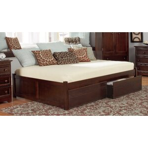 mackenzie storage platform bed - Wood Bed Frame King