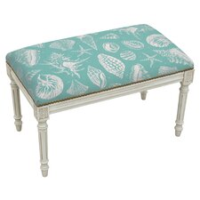 Seashells Wood Entryway Bench by 123 Creations