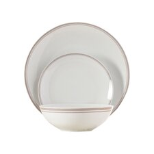 Wayfair Basics 12 Piece Striped Porcelain Dinnerware Set, Service for 4