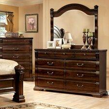 Starnes 9 Drawer Dresser with Mirror by Astoria Grand