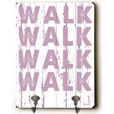 Walk Walk Walk Leash Planked Wood Wall Mounted Coat Rack by Zipcode Design