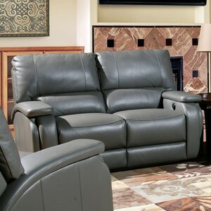 Shelburn Dual Leather Power Reclining Loveseat by Red Barrel Studio