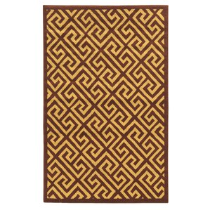 Perfect Capri Brown/Beige Greek Key Rug