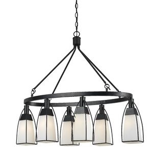 Gracie Oaks Keene 6-Light Shaded Chandelier