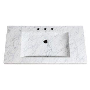 Natural Marble Stone Integrated 43 Single Bathroom Vanity Top By Avanity