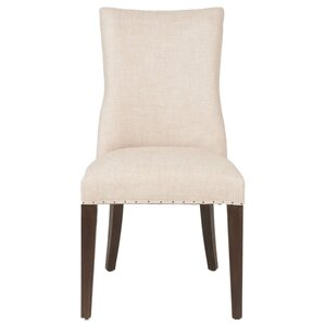 Lourdes Genuine Leather Upholstered Dining Chair (Set of 2) by Orient Express Furniture