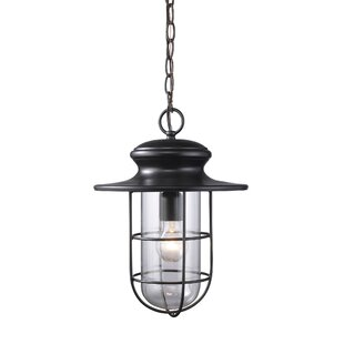 Compare Garr 1-Light Outdoor Pendant By Breakwater Bay