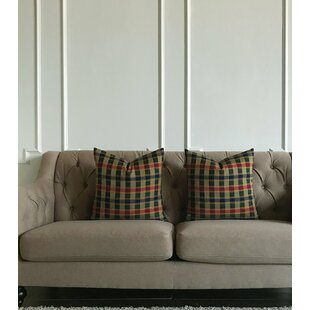 Tartaglia Plaid Luxury Woven Decorative Pillow Cover