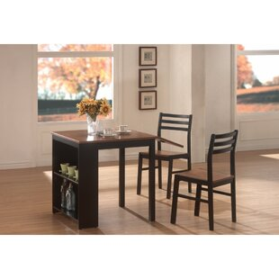 Karlson Modish 3 Piece Solid Wood Dining Set Winston Porter