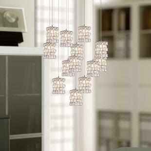 Cross 13-Light LED Cluster Pendant by Mercer41