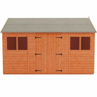 Tiger 16 Ft. W X 10 Ft. D Shiplap Reverse Apex Wooden Shed By Tiger Sheds