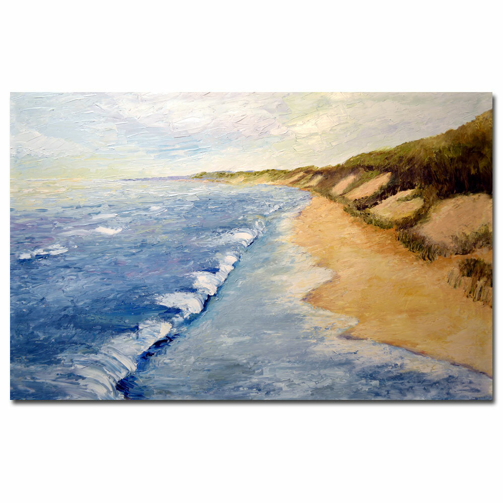 Trademark Art Lake Michigan Whitecaps By Michelle Calkins Painting Print On Canvas Reviews Wayfair